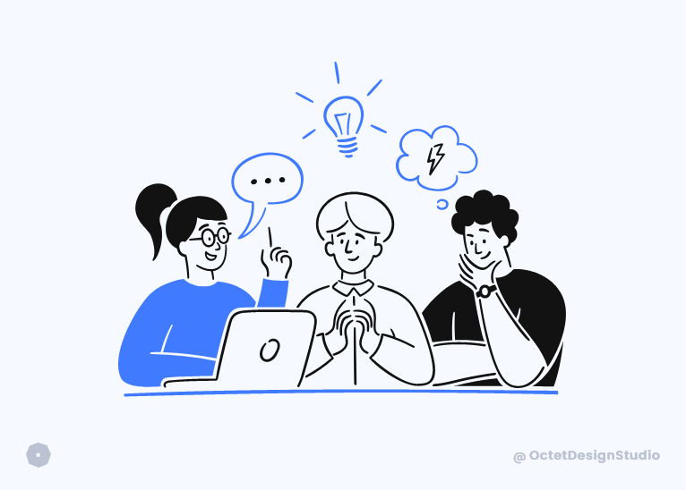 Design thinking offers solutions that solve users' problems.