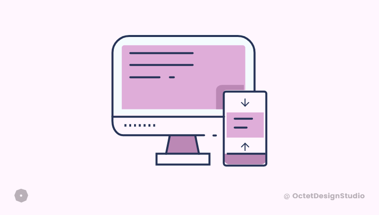 In responsive design, the flow should be carefully thought as per content and design.
