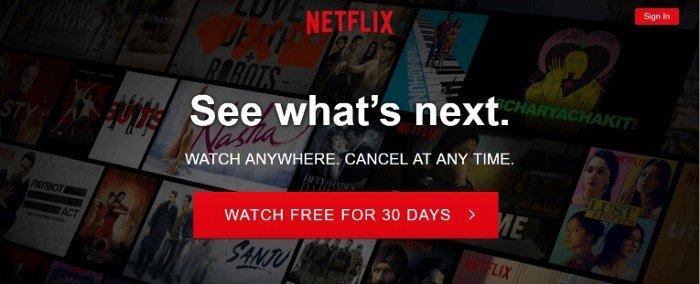 Netflix Sign Up UX