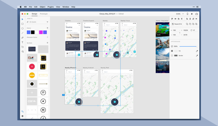 Adobe XD is the prototyping tool for user experience and interaction designers.