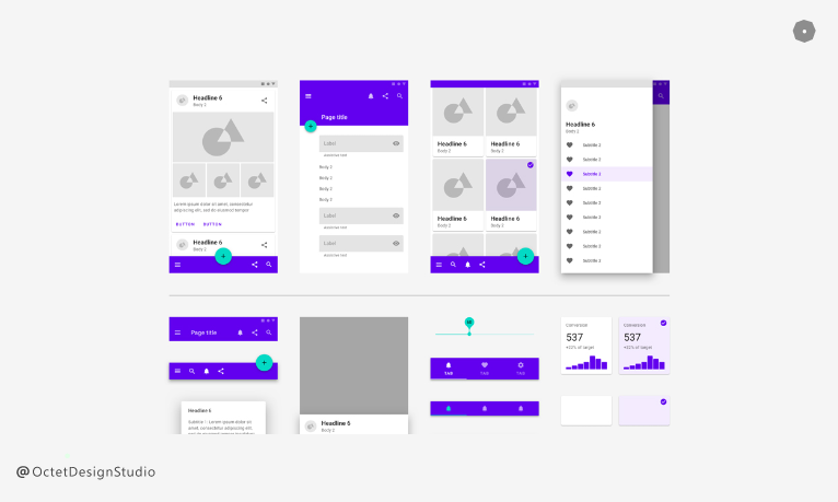 Examples of Design System - Material Design System by Google