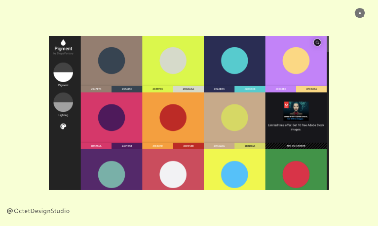 Pigment by Shapefactory is the leading colour palette generator