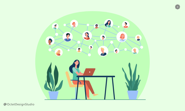 During your job hunt, or even if you are working in some other domain, you can start building your network of UX designer